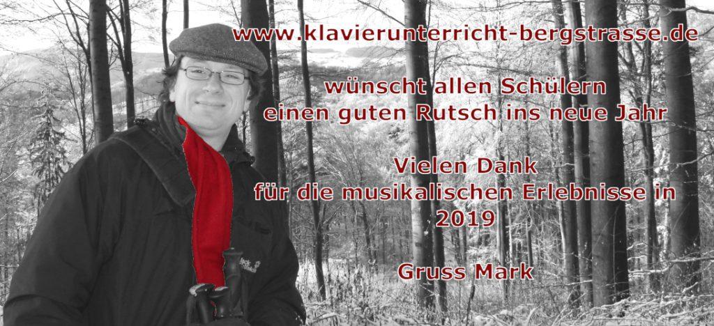 Klavierunterricht in Seeheim / Bickenbach Neujahrsgruss 2020